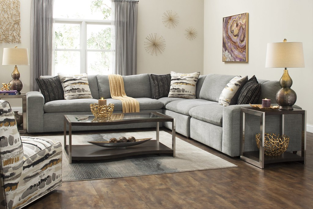 Calleta Chenille Sectional Sofa If You Want A Fashion Forw Flickr