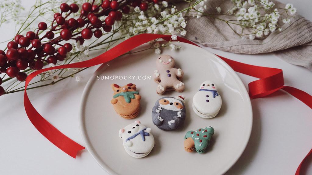 Christmas Macarons.Christmas Macarons Featuring Snowman Gingerbread Man Chr