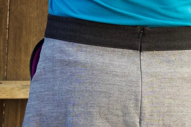 ginger skirt pocket and back zipper