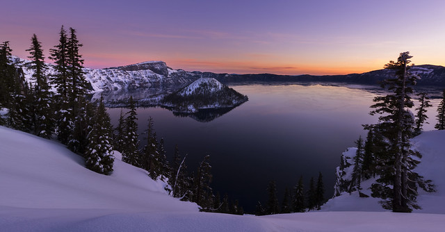 Crater Lake at Dawn (Crater Lake NP, Oregon)