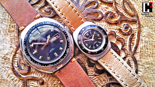 Vintage Bulova Caravelle Swiss made Automatic Divers. His & Hers | by C Squared Watches and Timepieces