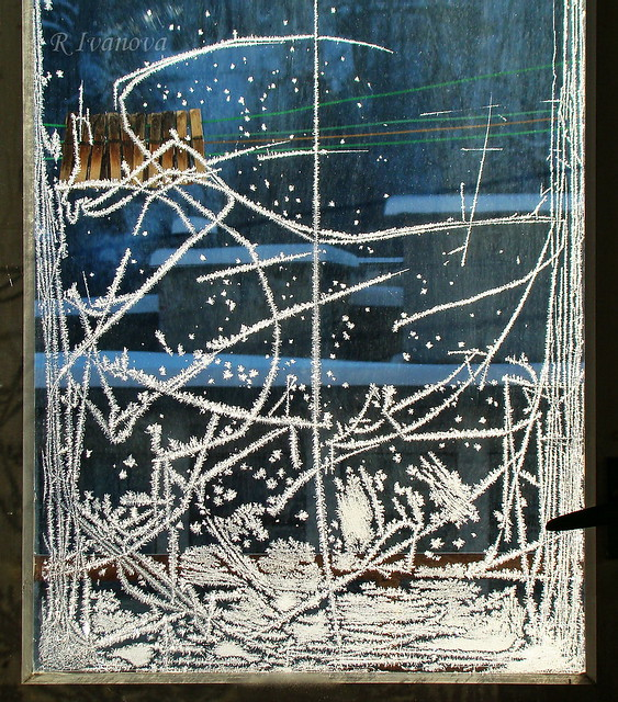 Window. The Signature of the Winter