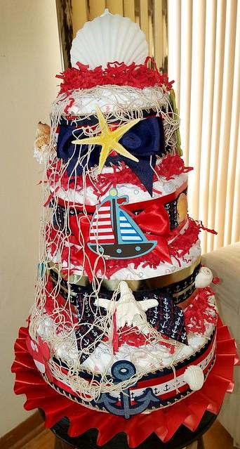 Ahoy Ahoy it's a Boy 4 Tier Diaper Cake