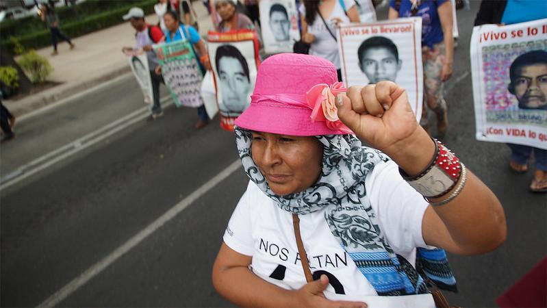 Se cumplen 41 meses de la desaparición de los 43 estudiantes de Ayotzinapa. Foto: Mario Marlo/Somoselmedio.org