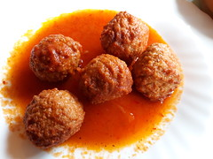 Meat Balls in tomato sauce at Masca village