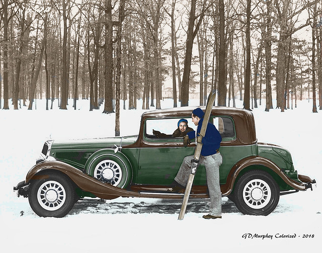 1933 Studebaker President Sedan Colorized