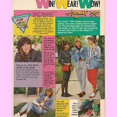 August 1987 Teenage Girls Fashion Article Advertisement