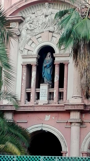 A Detail of an Abandoned Catholic Orphanage, Santiago de Chile. The resemblances of the second mayor arcane of the tarot are stricking