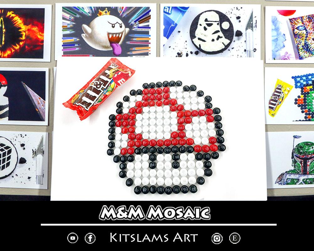 Mario Mushroom M M Mosaic Art Print Nintendo Pixel Art