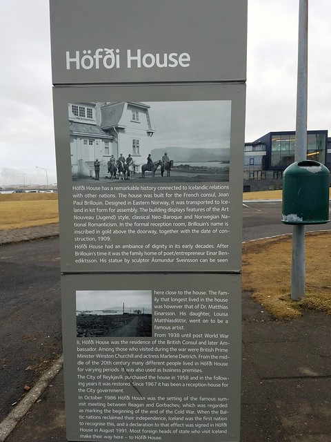 Hofdi house connections with Icelandic relations