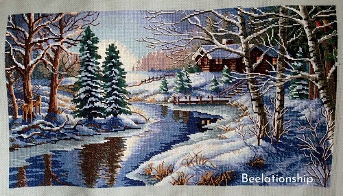 45. Winter Shore | by Beelationship Embroidery Studio