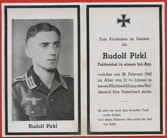 Archiv A107 Rudolf Pirkl, 1942