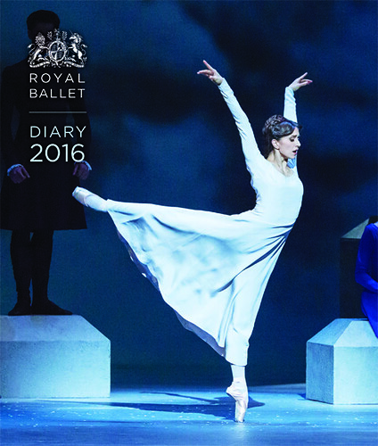 Cover of the 2016 Royal Ballet desk and pocket diaries, produced by Frances Lincoln
