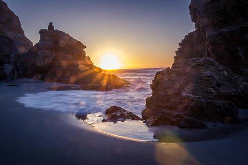 ocean sunset seascape reflection beach nature outdoors landscapes rocks ocaso longexposurephotography sonya580