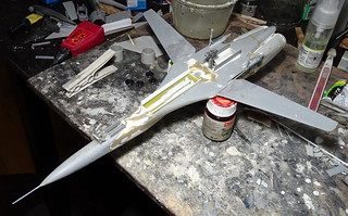 "1:72 Mikoyan-Gurewitsch Izdeliye 71.2 ""жура́вль"" (Crane); 2nd prototype at Savasleyka Air Base, 1995 (Whif/kit-bashing) - WiP 