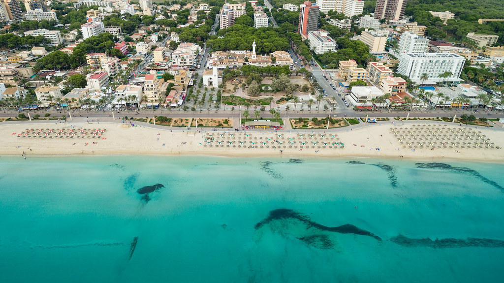 Palma beach, Mallorca Spain | dronepicr | Flickr