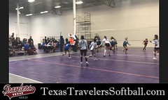 Kaydee Bennett spends her off season playing club volleyball for 14s Texas Assault Black. Team playing gold bracket at Winterfest, January 2018.