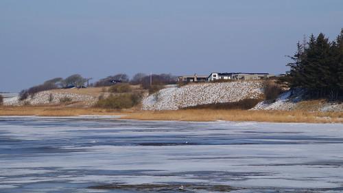 vinter winter jylland danmark denmark water vand fjord is ice hjarbækfjord virksund