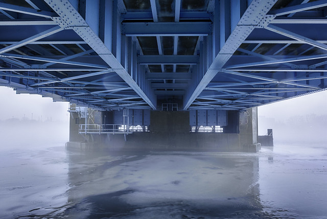 foggy morning on the Saginaw River