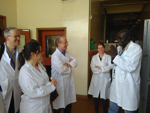 Feb/2018 - Officials from the German Federal Research Institute for Animal Health, the Federal Institute for Risk Assessment (BfR), and the Institute of Parasitology and Tropical Veterinary Medicine of the Free University of Berlin, visited ILRI 27 February–1 March 2018 (photo credit: ILRI/Nicole Gollnick (BfR).