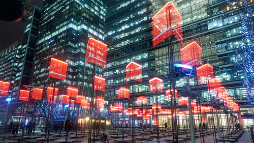 Canary Wharf winter lights | by Yo_Nayson