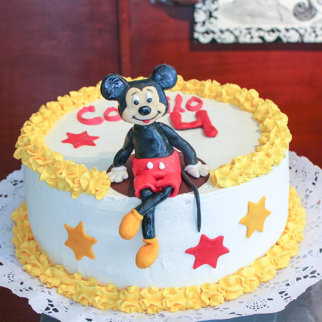 Torta tradicional con Fondant - Vintage Mickey