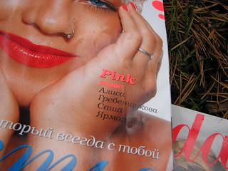 Russian magazines in the forest before burning / Российские журналы в лесу перед сожжением