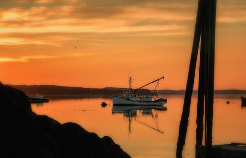 maine newengland coastalmaine coastalnewengland fishingvillage lobster roadtrip seascape seaside lobsterboat sunset coastalsunset lubec unitedstates us