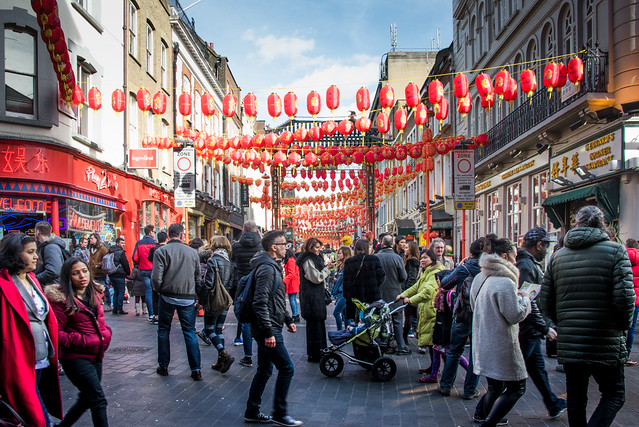 London on Chinese New Year day 2018