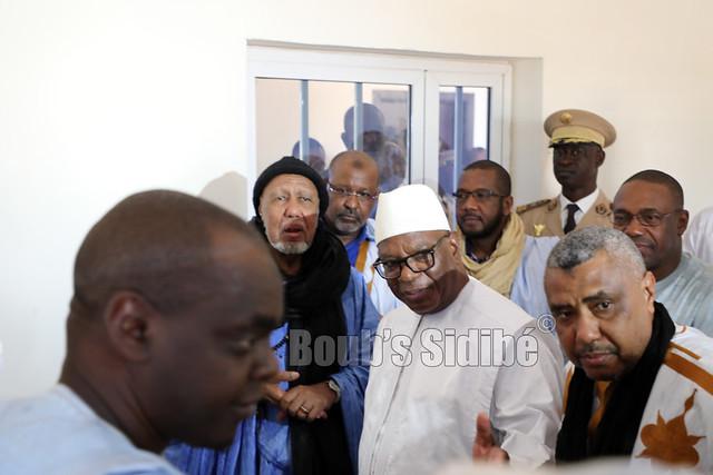Le président de la République SEM Ibrahim Boubacar Keita a Nioro, pour présenter ses condoléances au Chérif, Bouyé Haidara