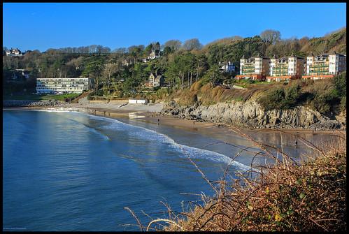 wales beach sea water landscape