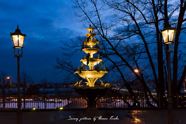 Vogelbrunnen am Waldschlösschen Dresden