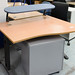 Beech wave table with up stand E105