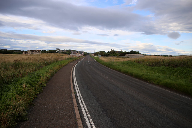 The A836 at Dunnet