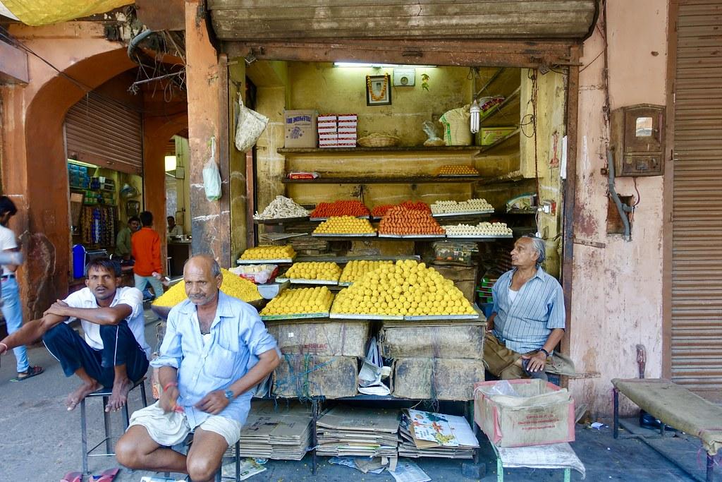 Sweet shop, Jaipur, September 2017