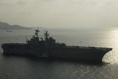 USS Bonhomme Richard (LHD 6) operates in the Gulf of Thailand, Feb. 16. (U.S. Navy/MCSN Gavin Shields)
