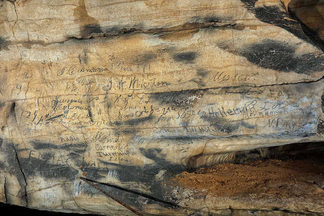 Historic Signatures, Fort Payne Cave, DeKalb County, Alabama 1