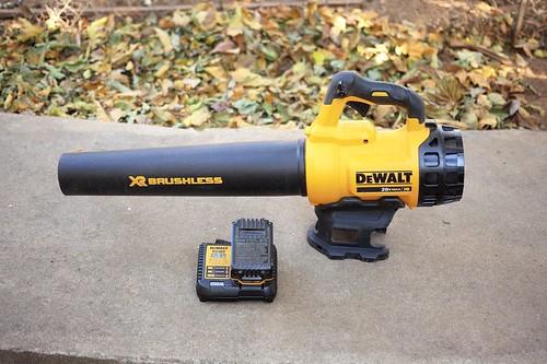 DeWalt battery powered leaf blower on ground | by yourbestdigs