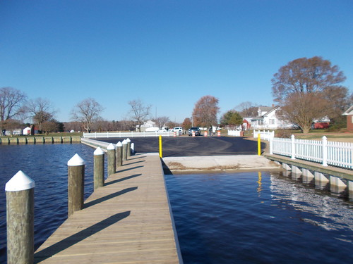 Photo of renovated boat ramp in Somerset County
