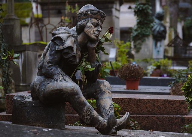 Tumba de Vaslav Nijinsky. Cementerio de Montmartre, París.