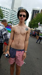 My partner at the Denver Pride Festival | by greymacey