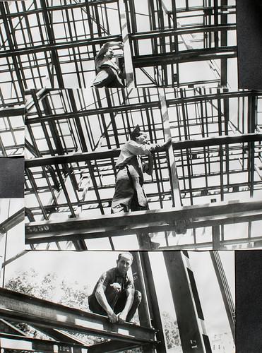 Hombres con soplete [3] - Mateo, Cabanillas, Asturias... hombres que han hecho realidad el diseño del arquitecto.