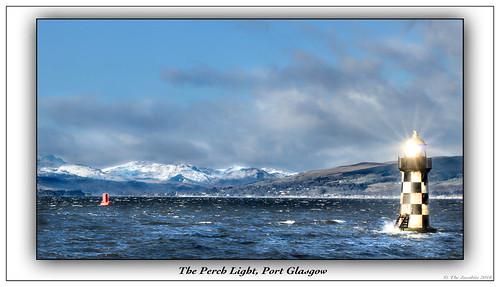 lighthouse portglasgow sun reflection river inverclyde waves light scotland canon