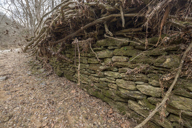 Stacked stone wall, Spring Creek, Jackson County, Tennessee