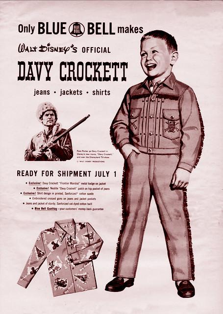 Official Davy Crockett Clothes -- 1954