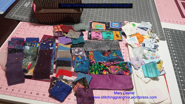 Scrap Dance Square Dance Fabric pull