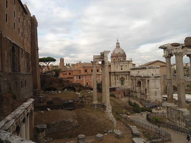 La Alcaldía de Roma y vista al Foro Romano, Capitolio, Roma, Italia/City Hall and view to the Roman Forum, Campidoglio, Rome, Italy - www.meEncantaViajar.com