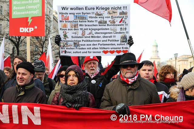 Demonstration: Liebknecht Luxemburg Demonstration 2018 – 14.01.2018 – Berlin -  IMG_8299