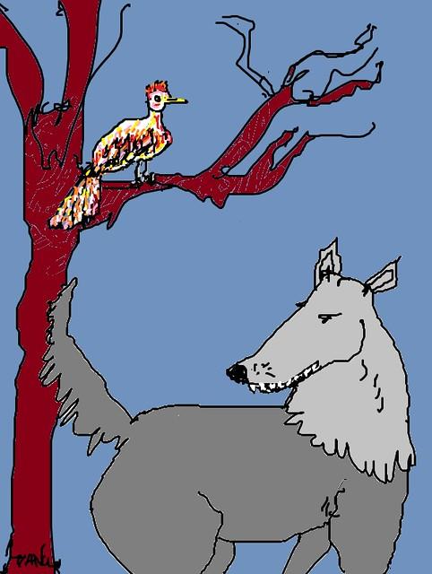 le loup du poéme