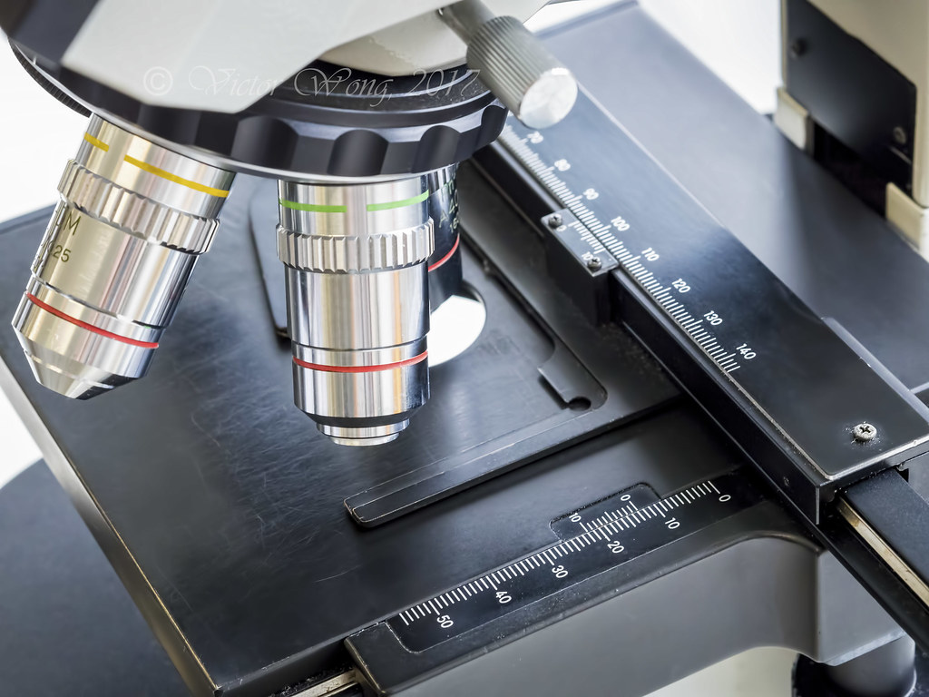Compound light microscope | Objectives with magnification ra